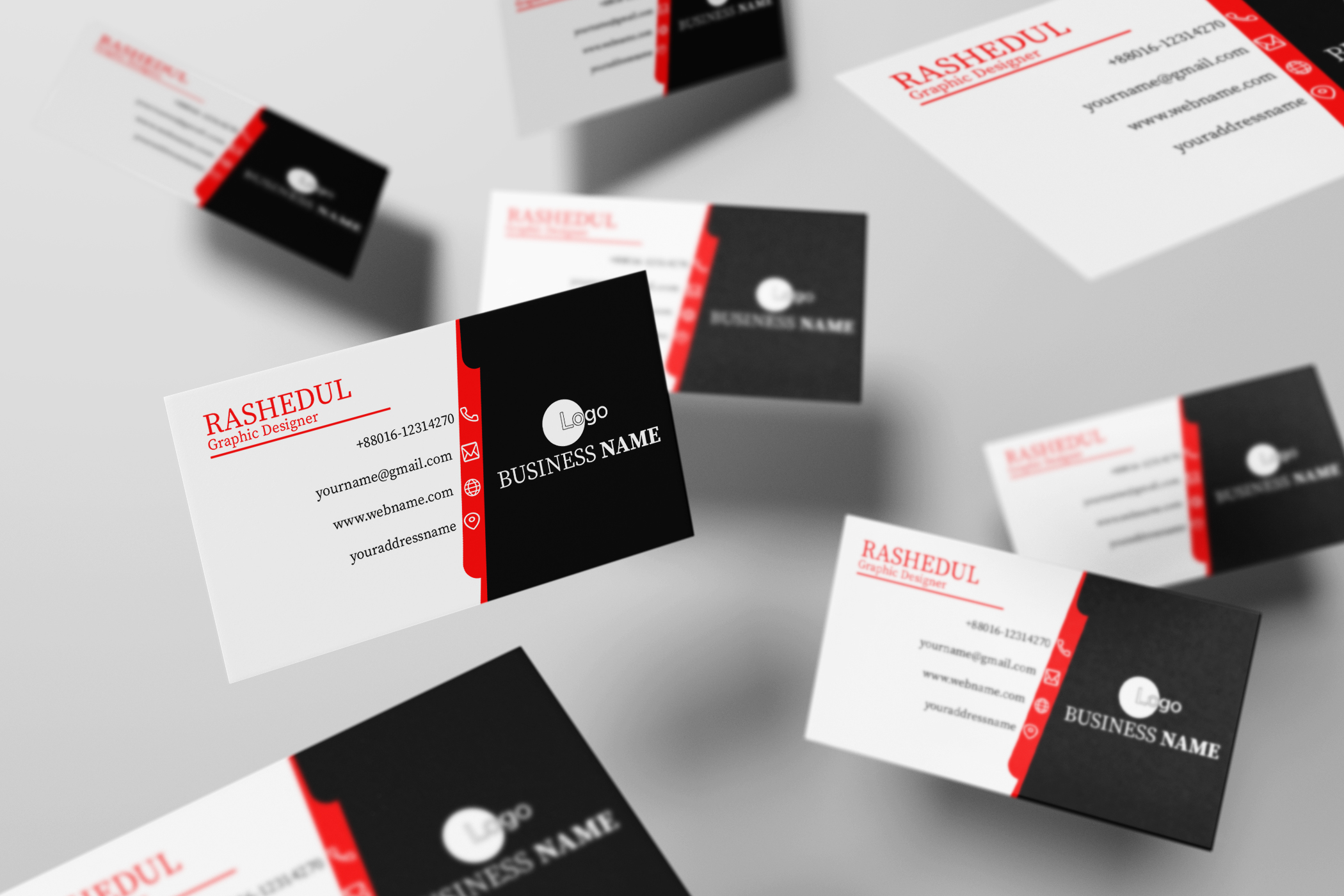 I will create unique business card