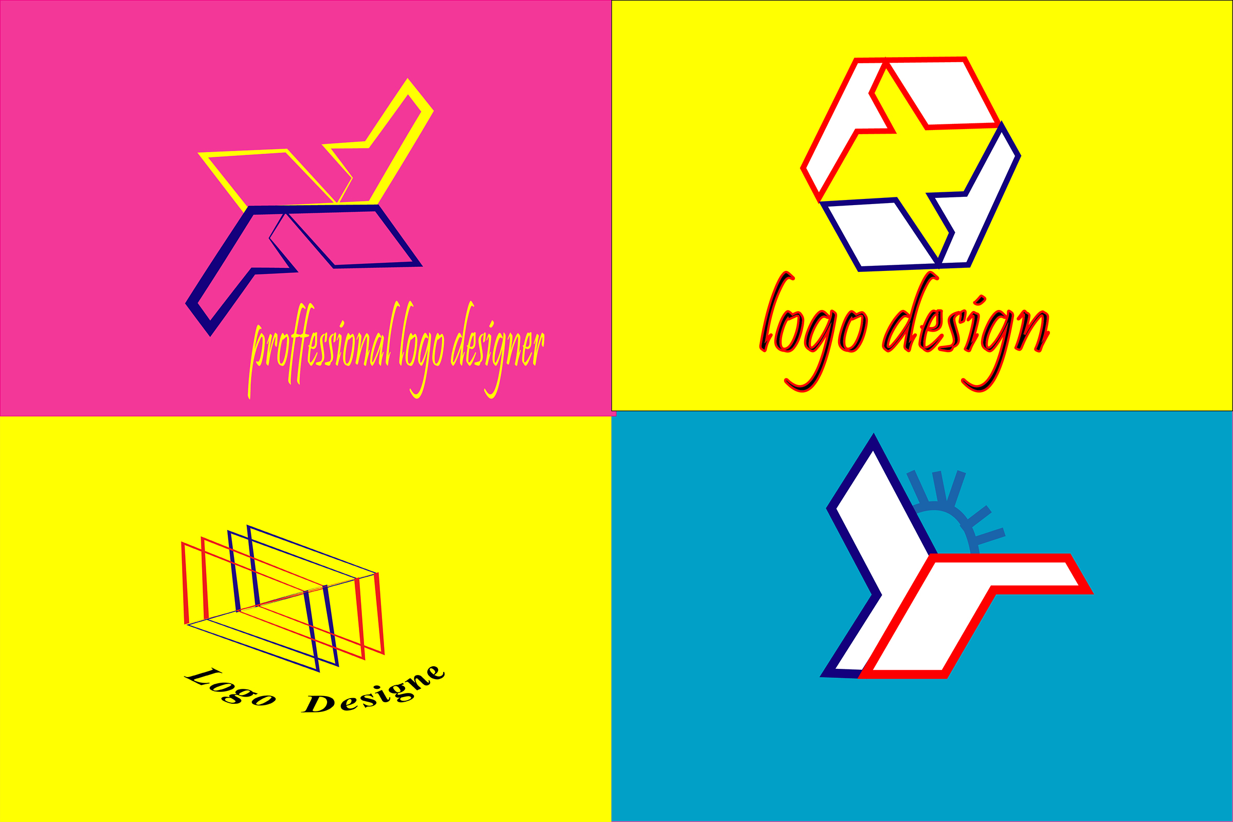i will Do modern minimalist flat logo design in 24 hours