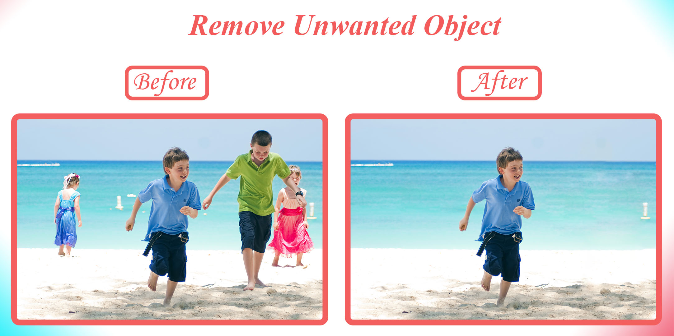 Remove object or person from any photo Perfectly