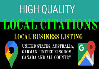 60 High quality local citations and local business listing