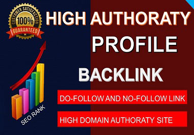 Create 50 Profile backlinks on high authority website