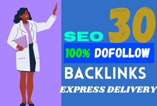 I will do 30 anchor text SEO dofollow backlinks,  link building