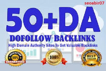 Build best 50 high quality high da SEO dofollow backlinks