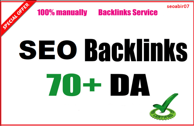Create high Da 70 USA backlinks for off page seo