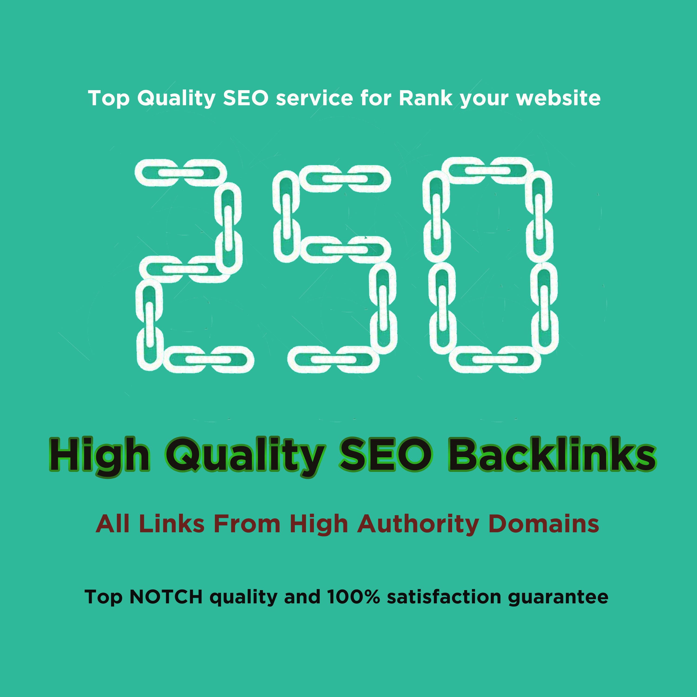I will do 250 HQ profile backlinks manually for website seo.