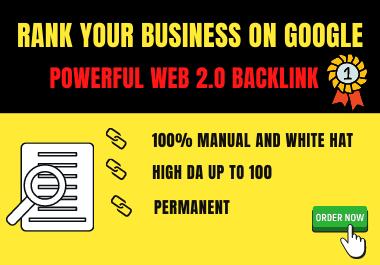 50 Powerful high DA web 2.0 backlinks.