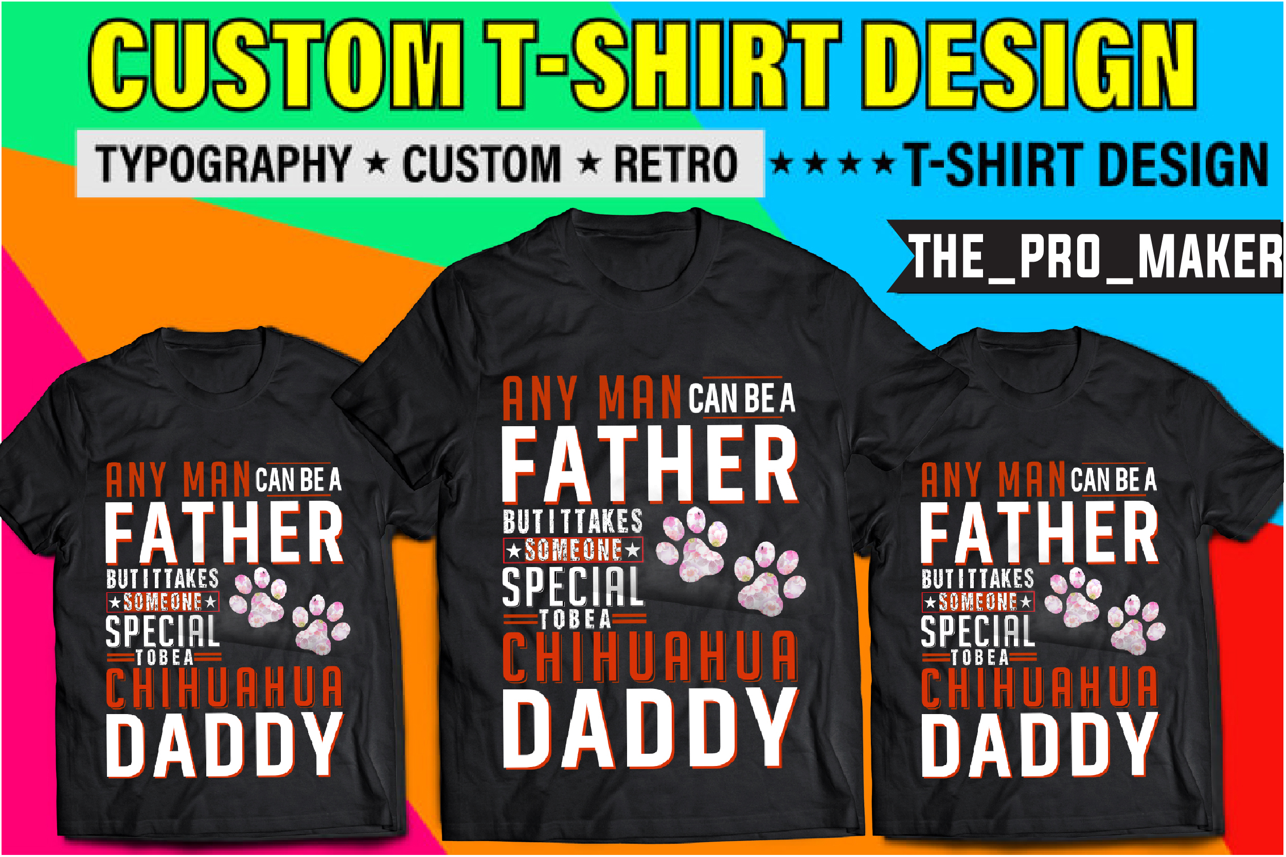 I will do custom t shirt design or bulk t shirt designs within 5h