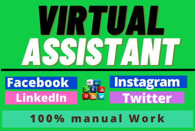 I will be Your Trusted And Real Virtual Assistant to manage your social Pages
