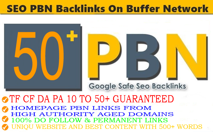 DA 50+ PA 40+ PR6-10 Web2.0 50 Pbn Backlink in 100 dofollow in unique site