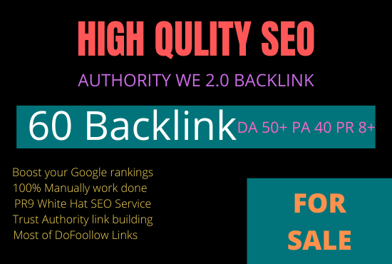 DA 60+ PA 35+ PR6-10 Web2.0 50 Pbn Backlink in 100 dofollow in unique site