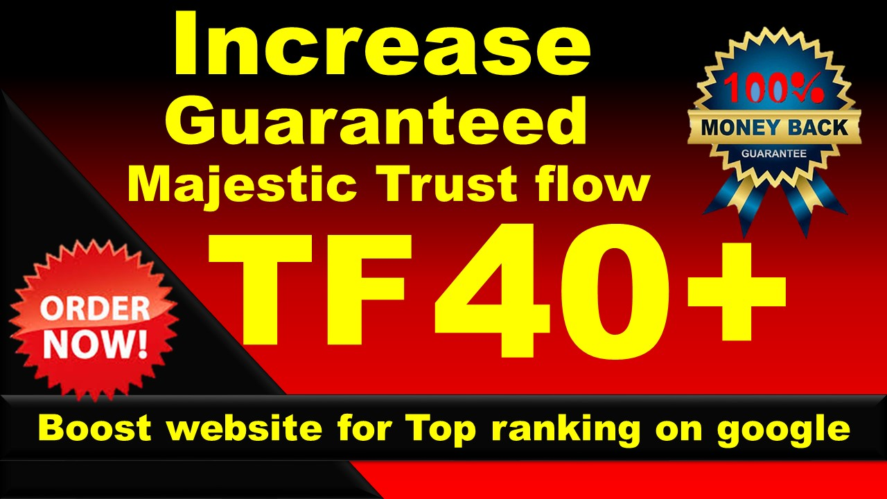 I will increase your website majestic trust flow 30 plus in 15 days