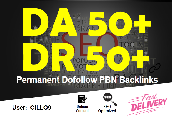 20 high authority DA DR 50plus dofollow seo backlinks service