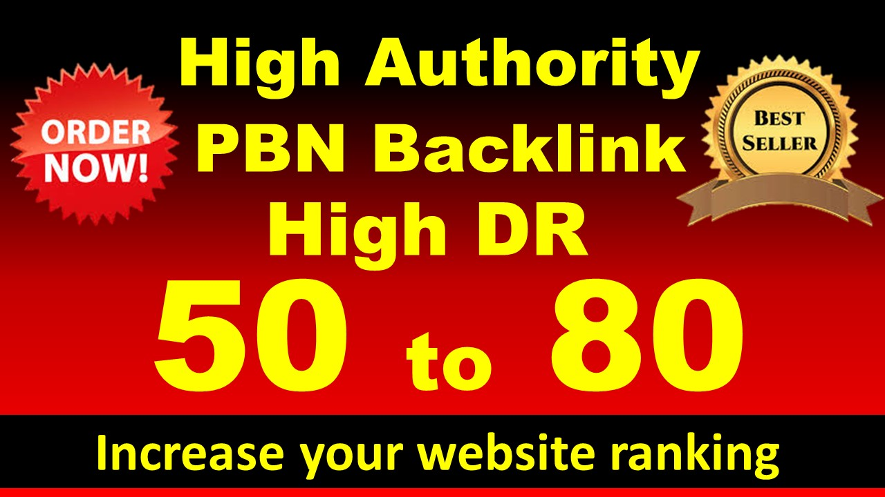 I will build 30 high DR 50 to 70 dofollow backlinks for seo