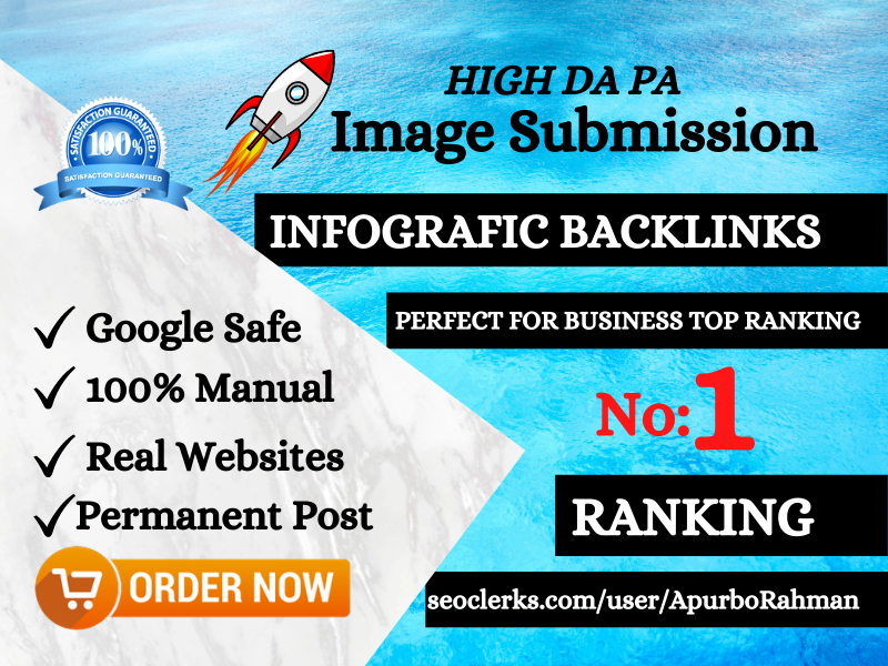 I will do 25 image submission on high DA PA website