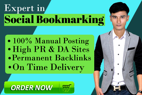 Manually 50 Social Bookmarking Dofollow SEO Backlinks with live link