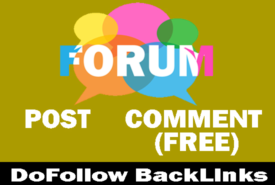 create backlinks by 40 forum posting and 10 forum commenting