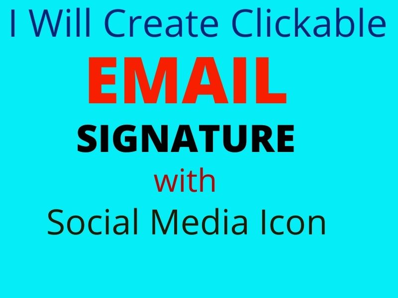 I will design an outlook email signature or other clickable email signature