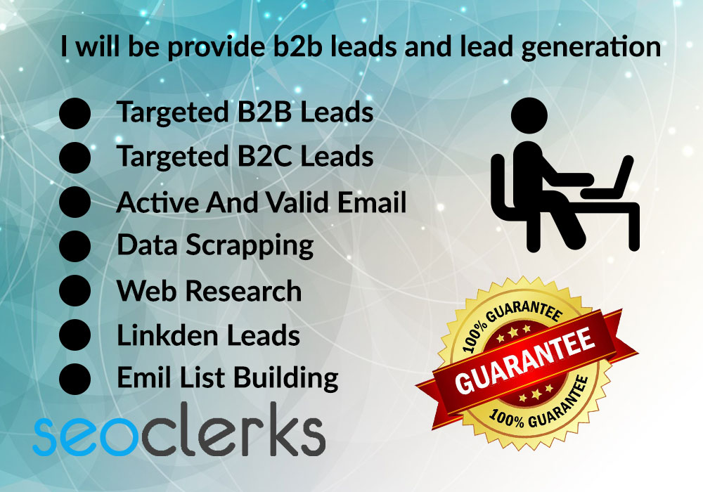 I Will Be Provide B2B Leads Generation
