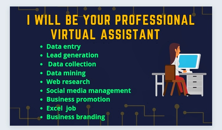 I will be your smart & professional virtual assistant for lead collection