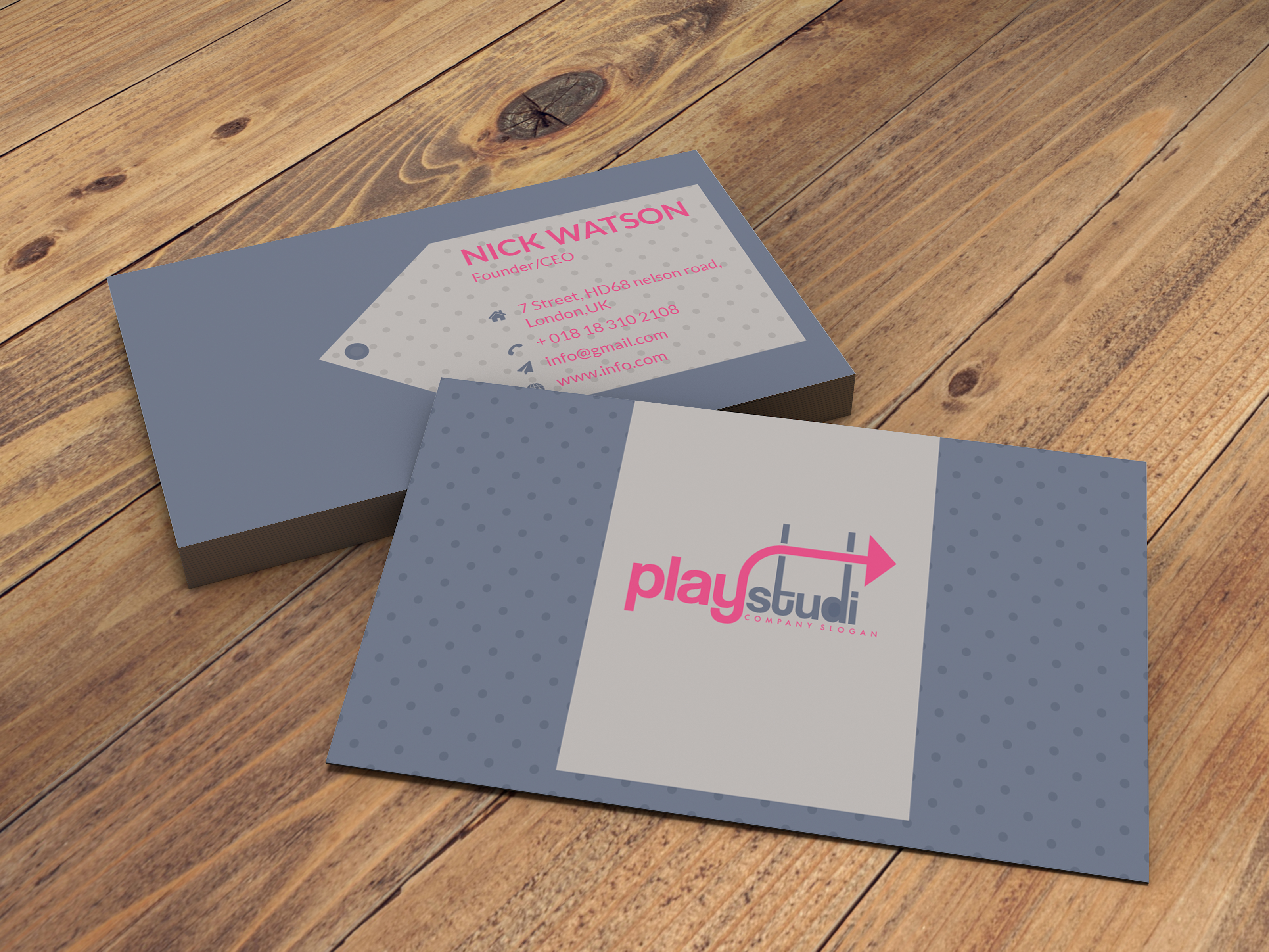 I will design minimal and unique business card for you