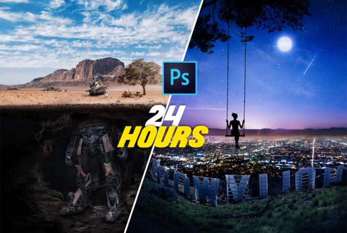 I will do professional editing , retouching in maximum 1 hours
