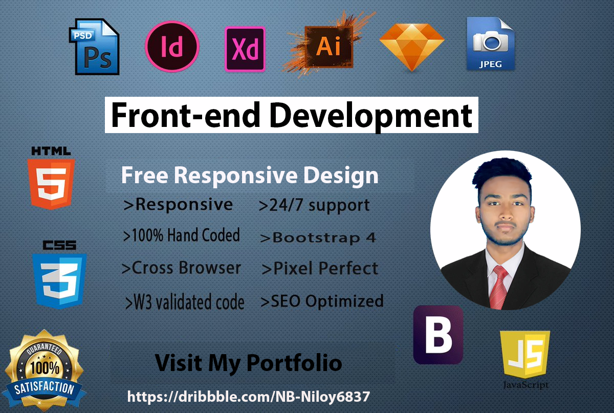 I will build website, do web design and Convert HTML Design