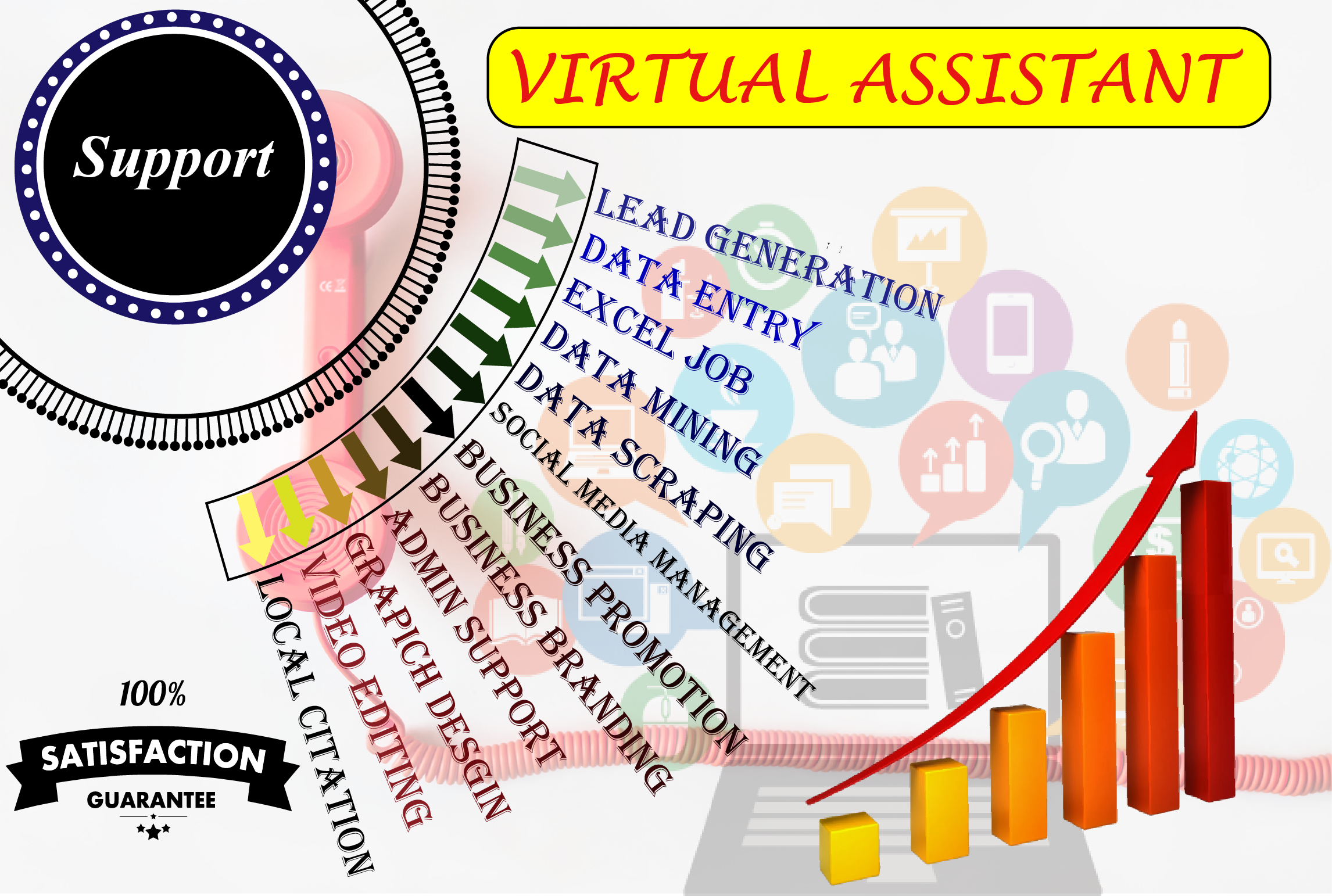 If You need a Virtual Assistant then I am so much interested work for you.