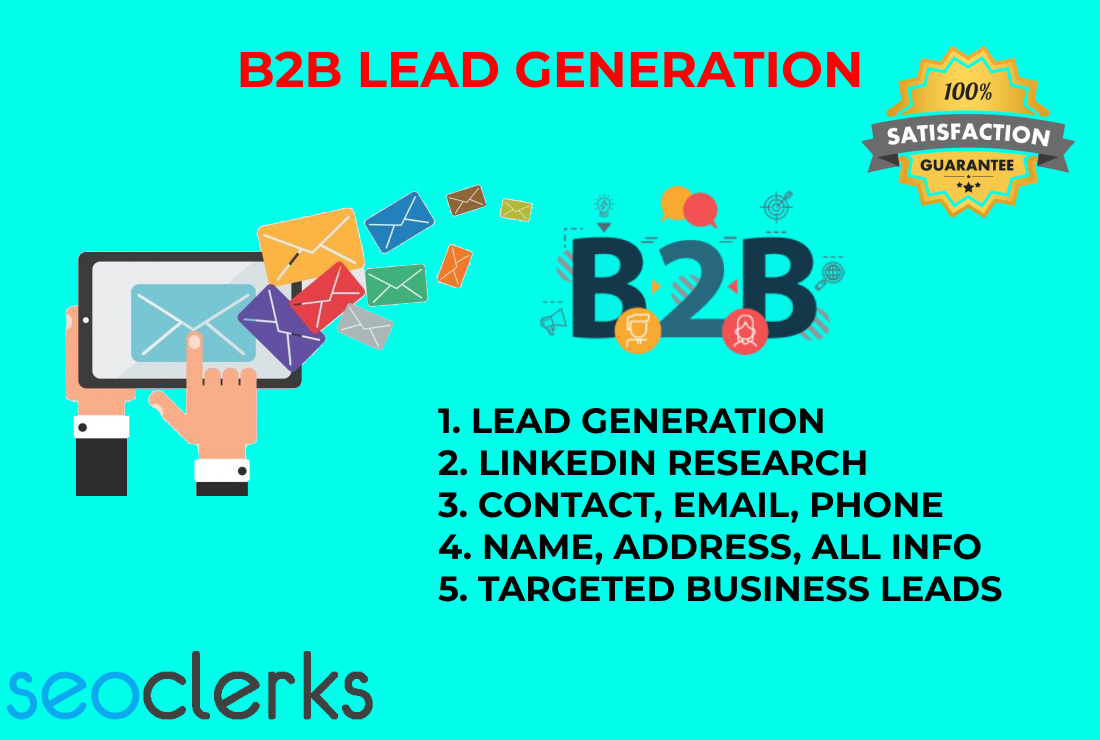 I will provide all kind of Lead Generation with valid information for your business