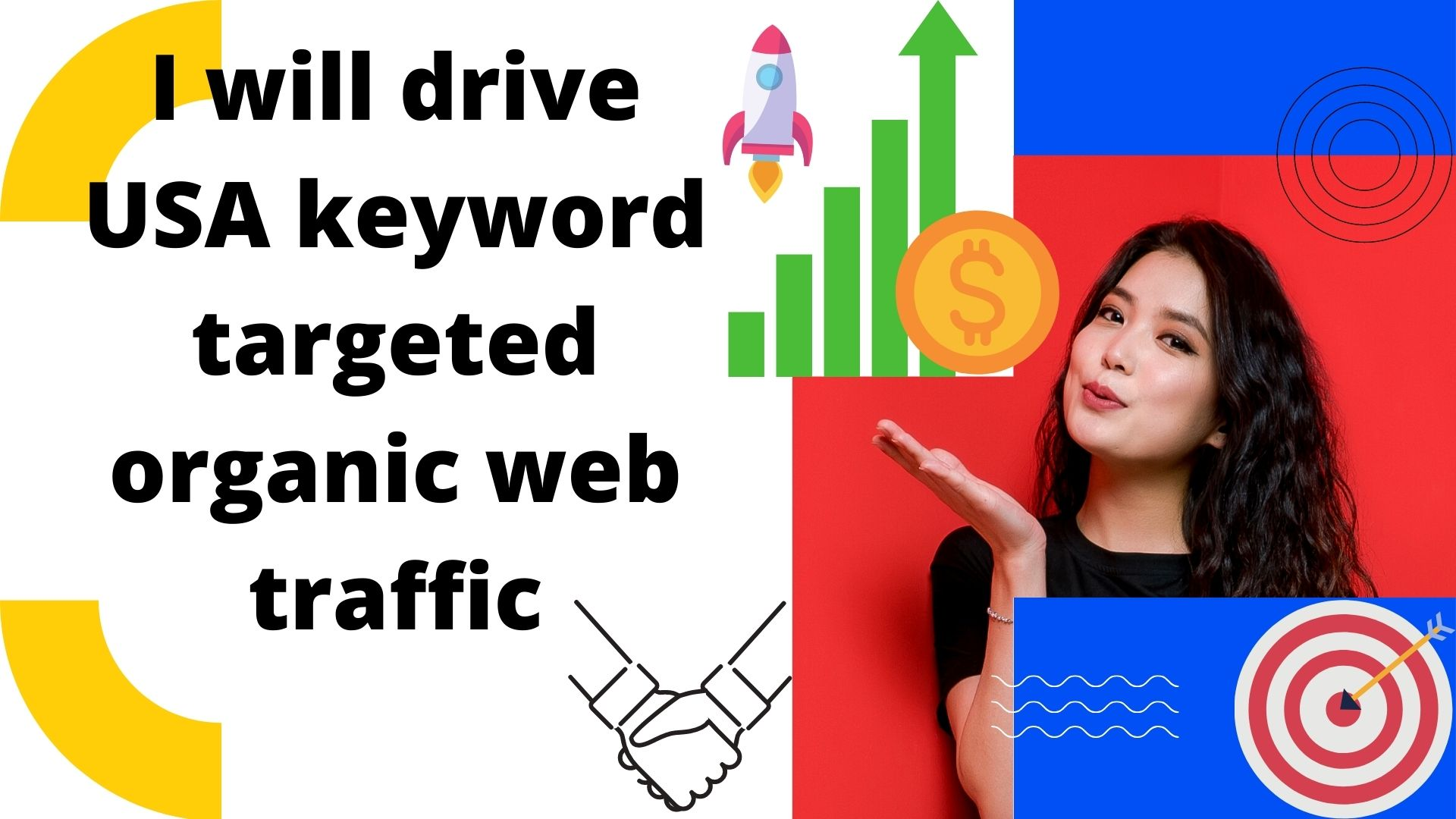 I will drive 8000 USA keyword targeted organic web traffic