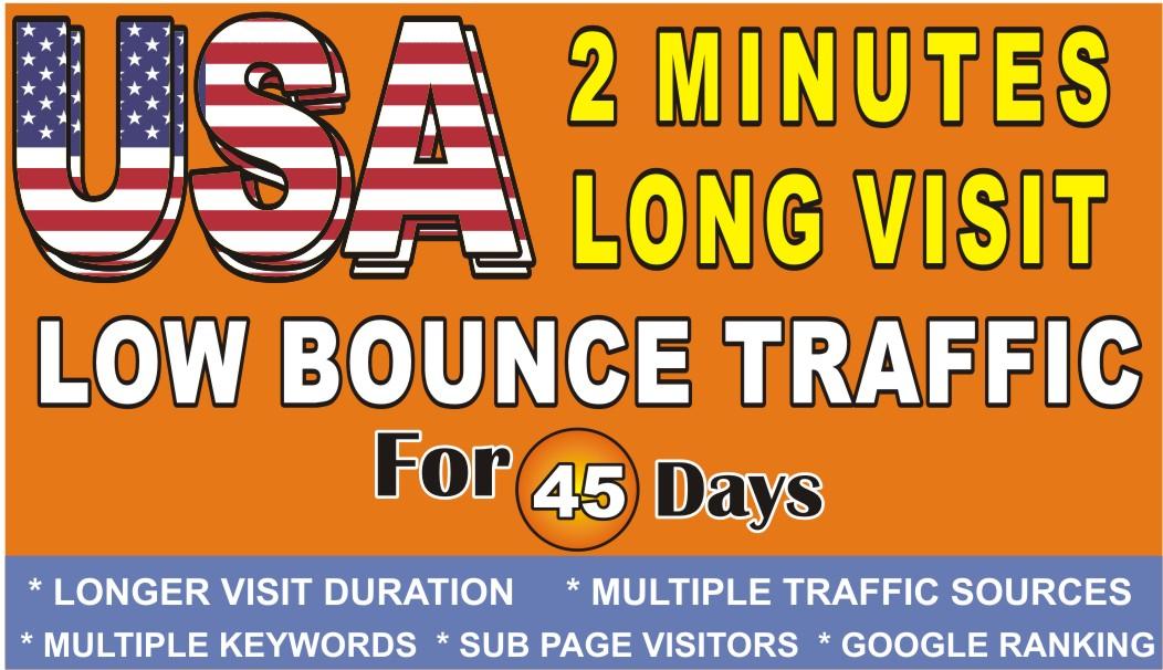 Do USA Web Traffic 2 Min Long Visit Low Bounce Rate