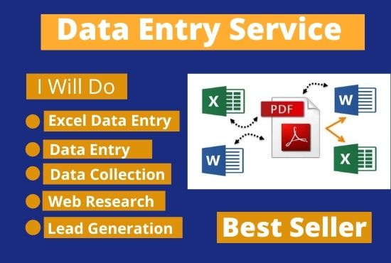 I Will Do Perfect copy paste,  Excel data entry Works and internet research