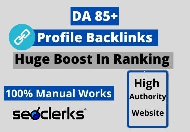 I Will Create 150 High Quality Profile Backlinks Manually For SEO Ranking