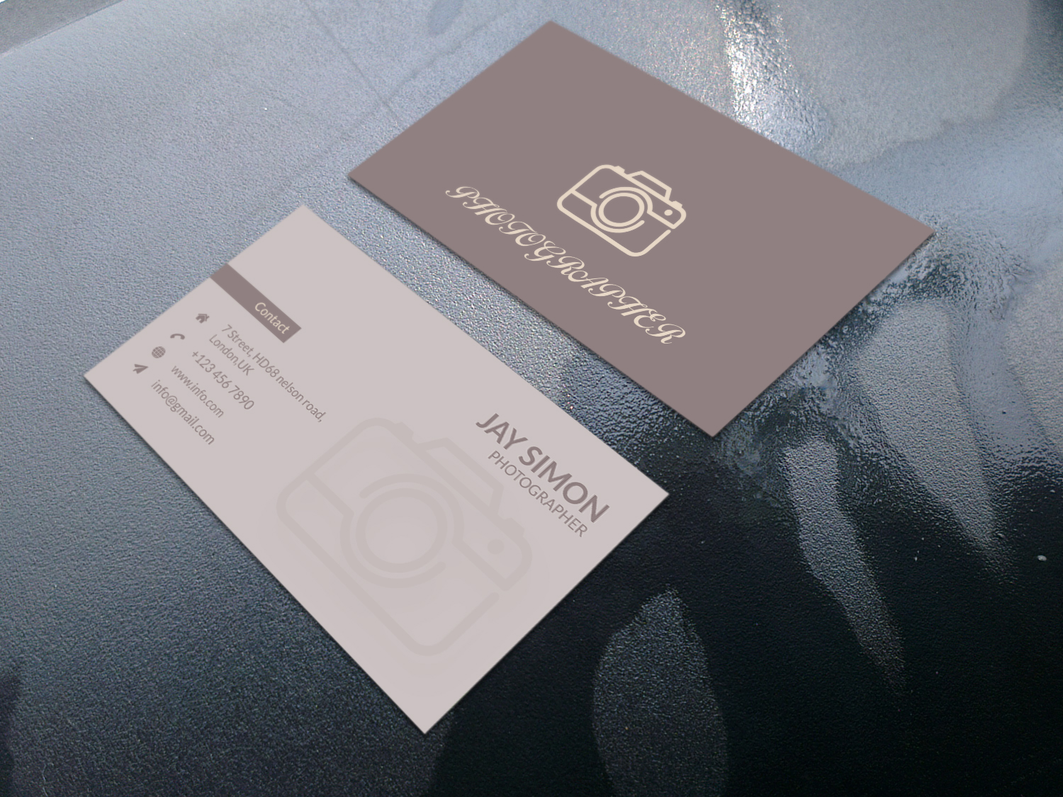 I will create minimalist luxury modern business card design within 12 hours
