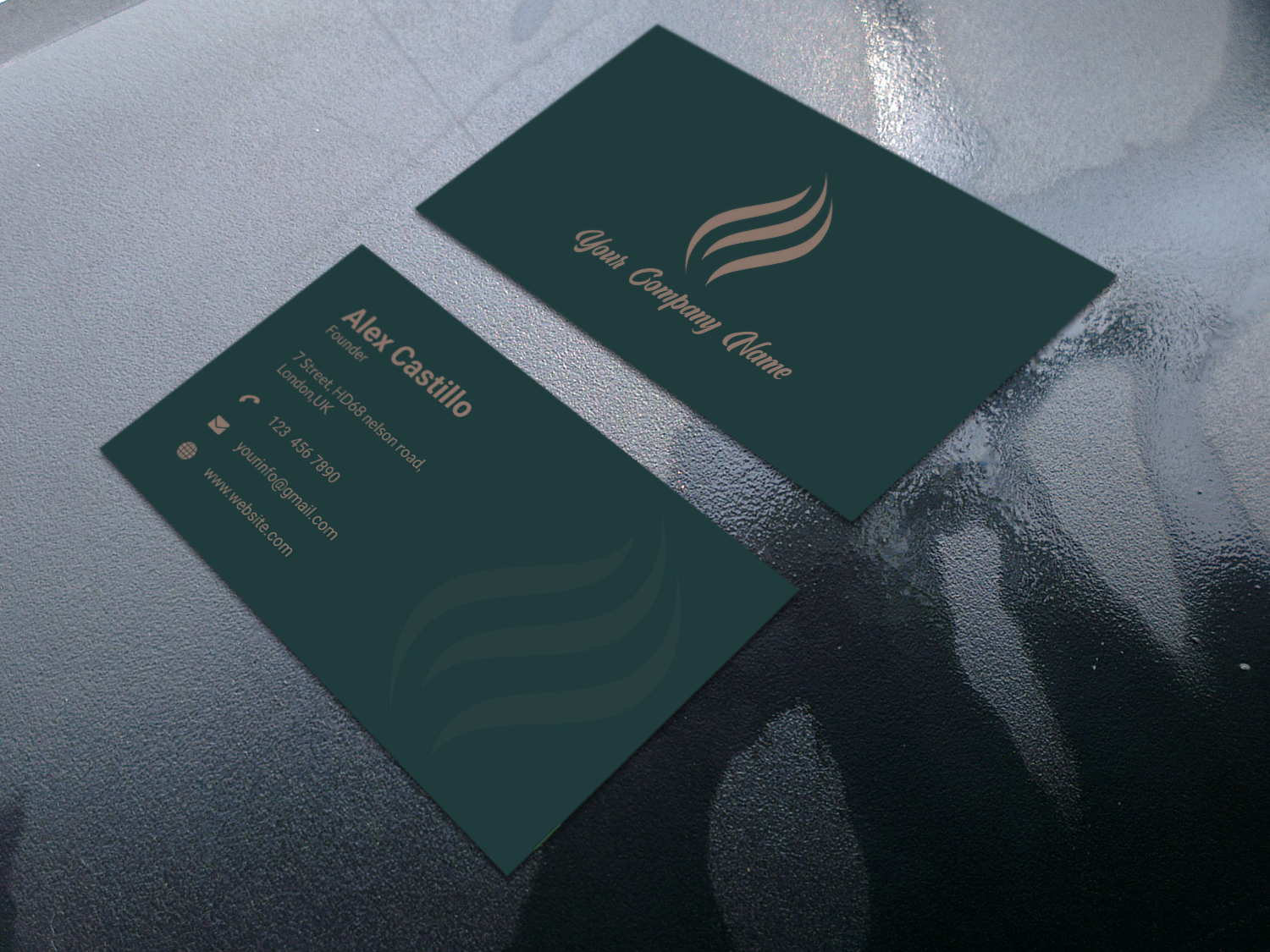 I will create minimalist and professional business card design within 24 hours