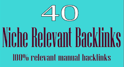 I will do 40 Niche Relevant blog commenting backlinks with High Da Pa