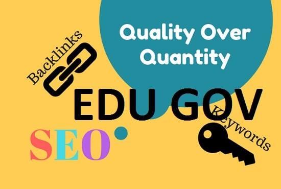 10 EDU 10 GOV and 40 blogcomments total 60 backlinks HIgh DA PA