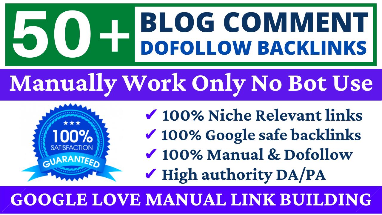 Build 50 Dofollow Blog Comments Backlinks High DA Website Ranking & Link Building Service