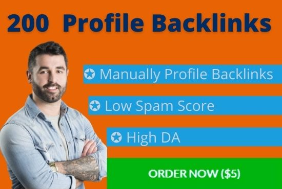 I will build 200 high authority backlinks