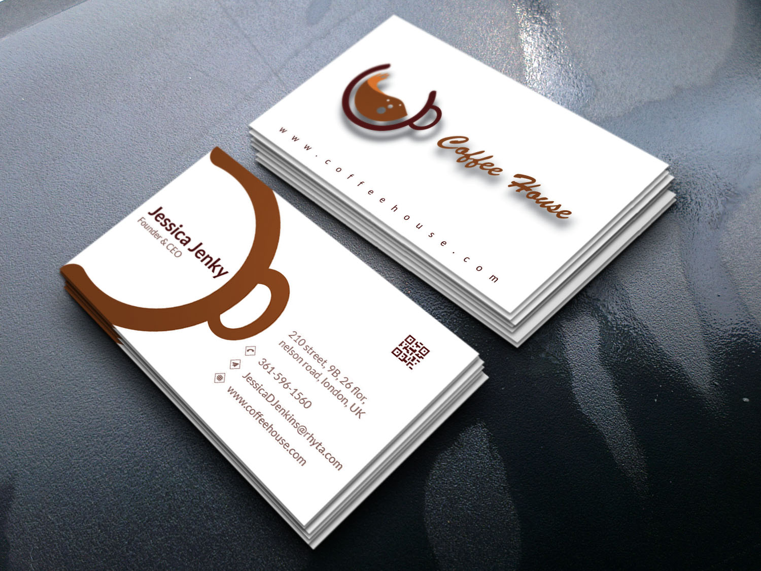 I will create professional and diversive business card for you