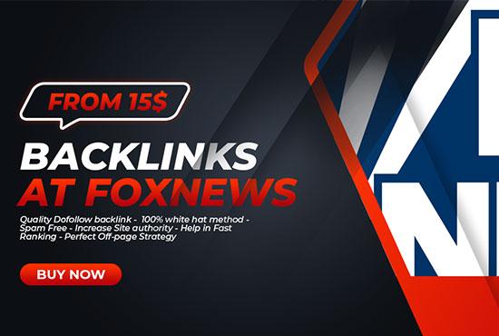 DoFollow Backlink from foxnews. com