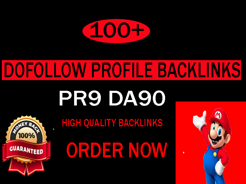 I will create 100 high quality profile backlinks