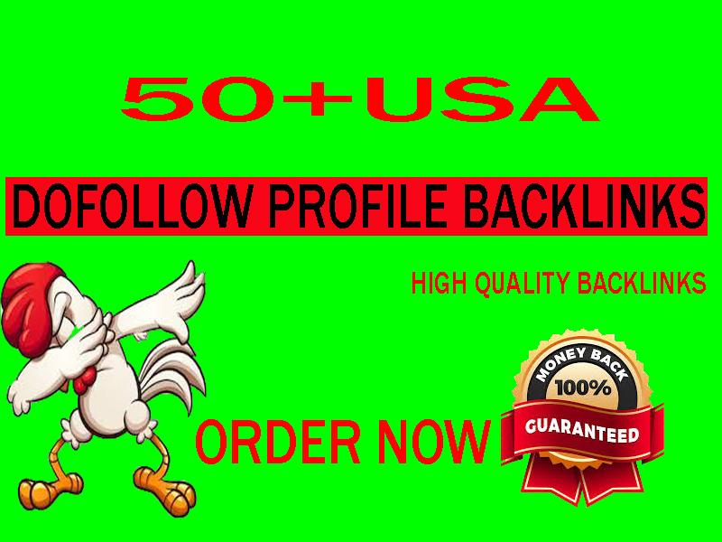 50 USA high authority dofollow seo profile backlink