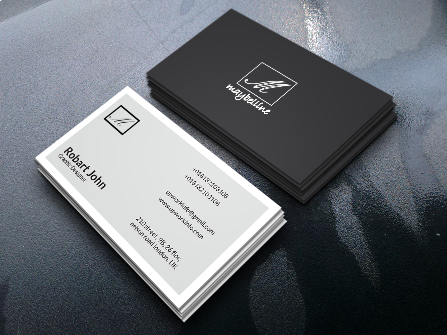 I will create a Business Card for you as you wish it to be