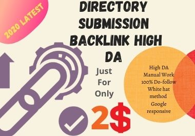 I will do 100 Directory Submission Backlinks with High PR/DA