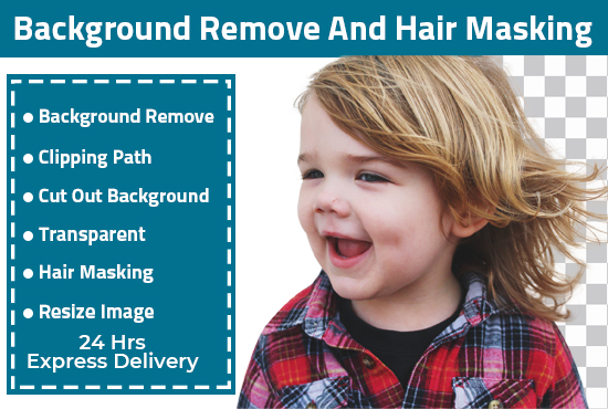 I will do background remove and hair masking of 10 images in less than 24 hours.