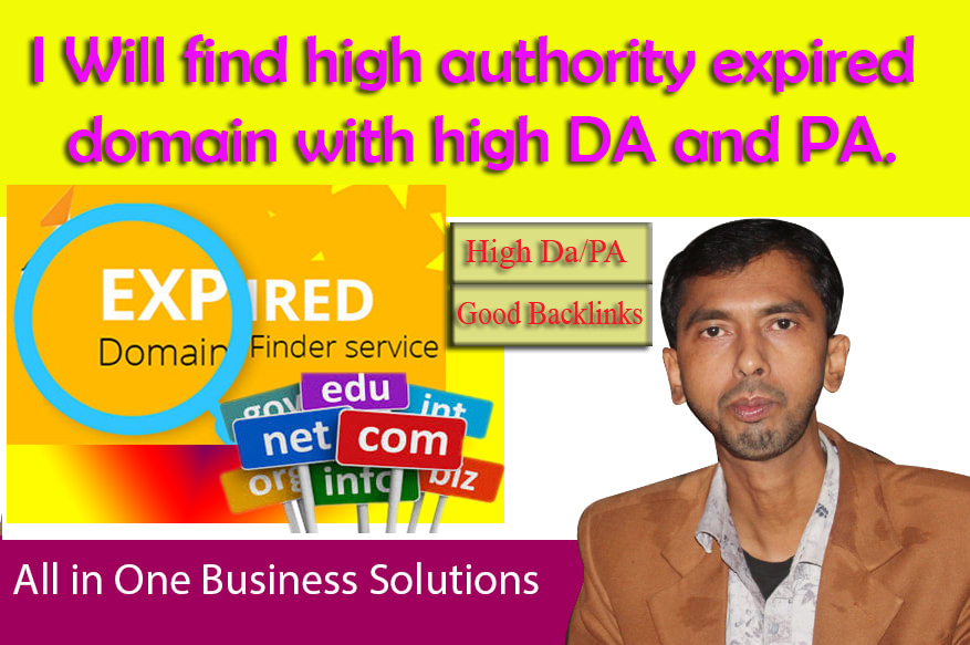 I Will find high authority expired domain with high DA and PA