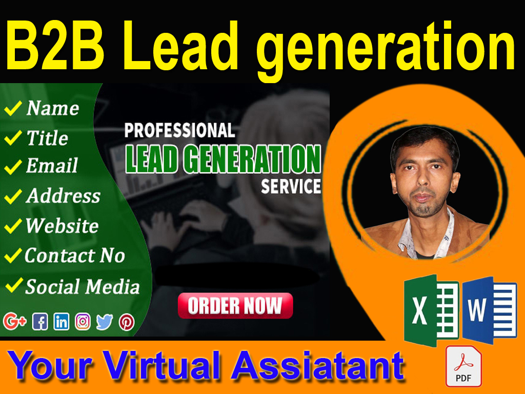 b2b lead generation,  virtual assistant for your business or company