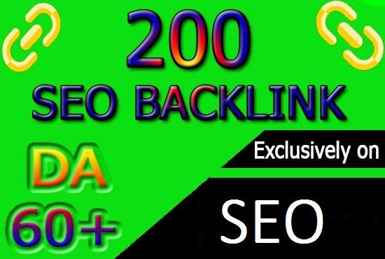 do 200 high pr authority SEO backlinks, link building