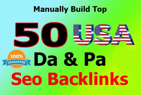 I will do 50 high pr usa pr9 backlinks for seo link building