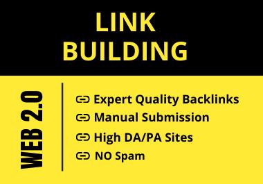 I will Provide 30 High DA/PA Manual Web 2.0 Backlinks